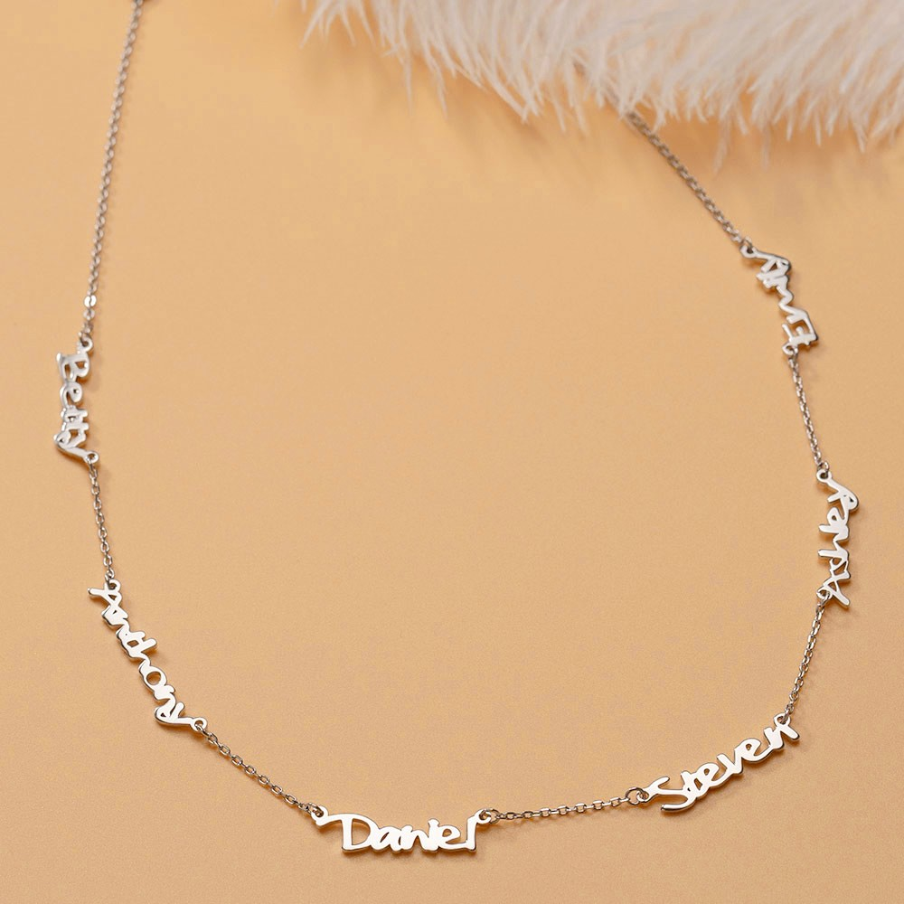 Personalized Name Necklace With 1-6 Family Names Gifts