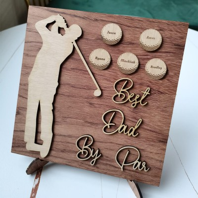 Personalized Golf Plaque With 1-10 Names Engraved Father's Day Gift