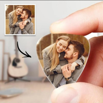 Personalized Guitar Pick with Photo for Musicians Christmas Gifts