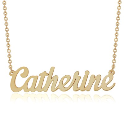 """Personalized Name Necklace Customized """" Carrie"""" Style Name Engraving Necklace"""