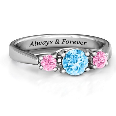 Promise Personalized Birthstone Ring