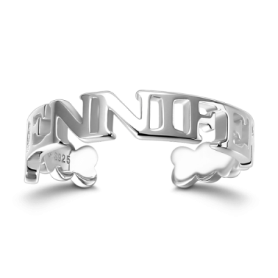 S925 Sterling Silver Name Ring