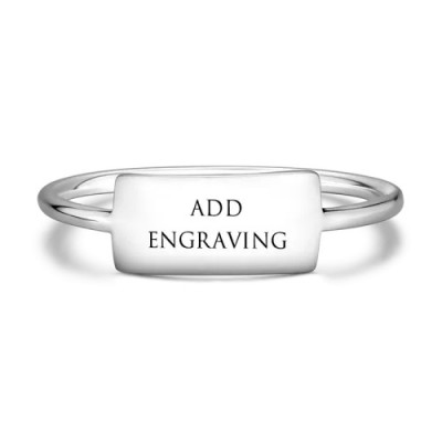 S925 Silver Engraved Promise Ring