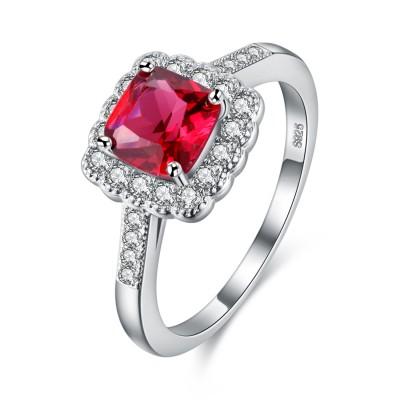 S925 Silver Dazzling Love Engagement Wedding Ring