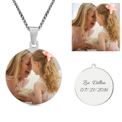 Photo Round Necklace