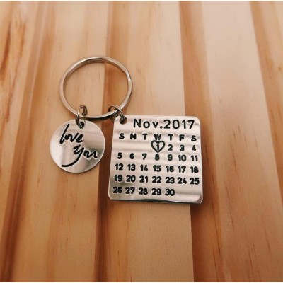 Personalized Calendar Keychain