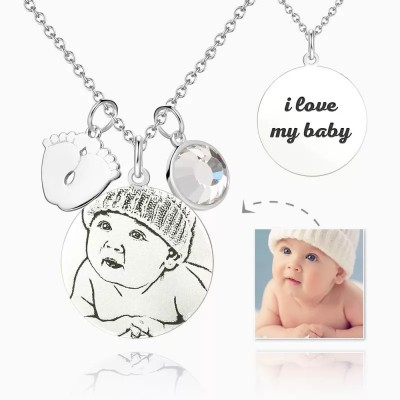 Women's Photo Engraved Tag Necklace