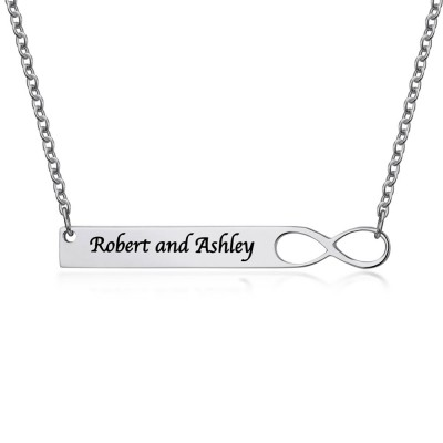 Infinity Personalized Coupon Name Necklace Bar Customized Name Necklace