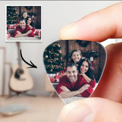 Personalized Guitar Pick with Photo For Family Gifts