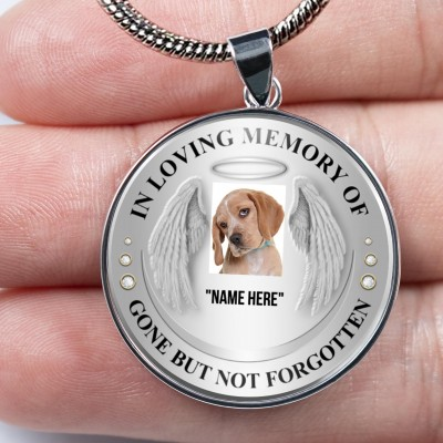 Personalized In Loving Memory Of Photo Necklace For Your Friend Family Pet Dog