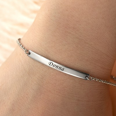 Personalized Engraved Name Bracelets
