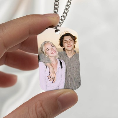 Custom Photo Necklace-Best Gifts For Family For Him and Her