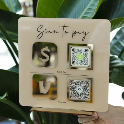 Personalized Business Double Payment QR Code Sign