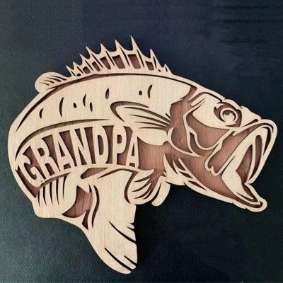 Personalized Bass Fish Father's Day Gift For Grandpa Dad Papa