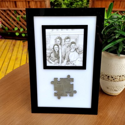 Personalised Mothers Day Gift Family Photo Holds Us Together Puzzles Pieces Name Sign Wall Decor