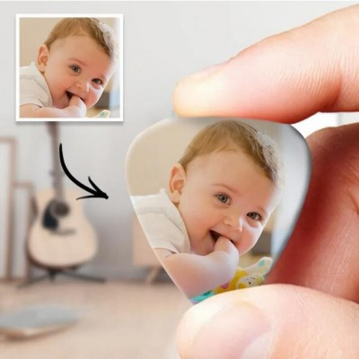 Personalized Guitar Pick with Photo For Baby