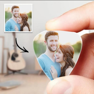 Personalized Guitar Pick with Photo for Musicians Custom for Boyfriend and Girlfriend