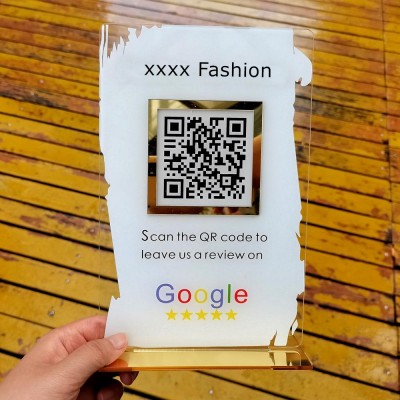 Personalized Business Review QR Code Sign | Salon Sign | Beauty Sign