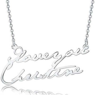 Personalized Engraved Name Necklace For Couple