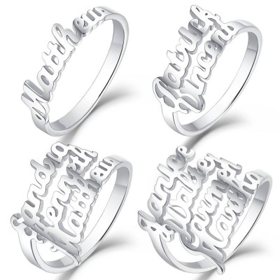 S925 Silver Personalized Name Ring For Her