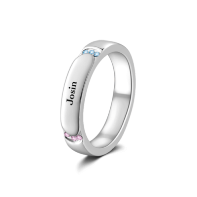 Engravable Promise Ring