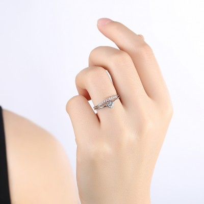 You Are In My Heart S925 Silver Engagement Wedding Ring