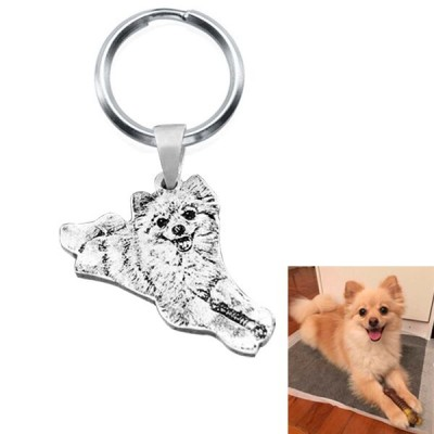 Pet Silhouette Pendant Custom Engraved Jewelry Diy Dog Pedant