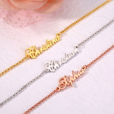 Personalized Gold Name Bracelets