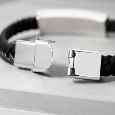 Mens Personalized Engraved Name Bracelet