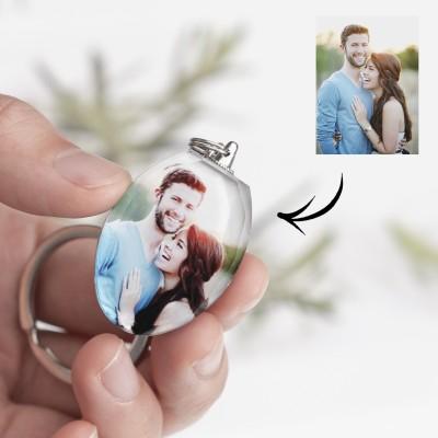 Custom Crystal Photo Keychain Personalized Baby Kids Gift