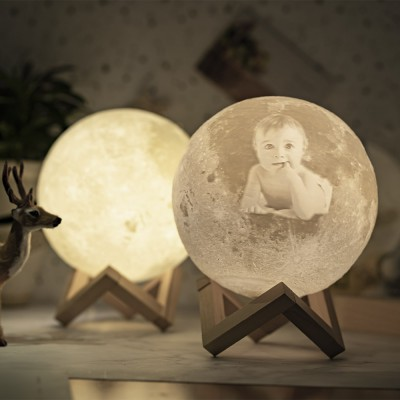 Personalized Moon Lamp 3D Photo Moonlight Touch Home Decor