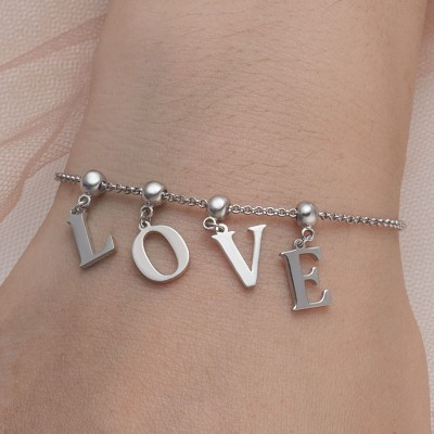 Personalized Initial Letter Name Bracelets with 1-7 Letters