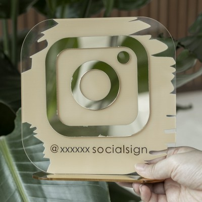 Personalized Instagram Social Media Sign | Salon Sign | Beauty Sign
