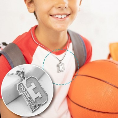Personalized Sports Number Necklace