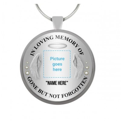 Personalized In Loving Memory Of Photo Necklace